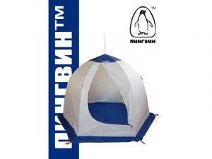 Зимняя палатка Пингвин 2 с внутренними порогами и полом (1-сл.) бело-синий